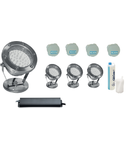 Pachet iluminare fantana arteziana 4 spoturi RGB Led + accesorii montare