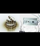 Pachet 5ml banda led Alb rece etansa  10w + sursa de alimentare 12VDC