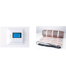 Pachet covor incalzire in parsoseala + termostat 3.5 metri patrati