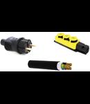 Pachet prelungitor gradina 25 ml cablu + stecher + cupla cauciuc