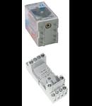 Releu cu soclu 4 contacte comutatoare, 12V, CC