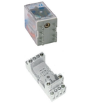 Releu cu soclu 4 contacte comutatoare, 48V, CA