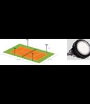 Kit iluminare teren tenis 16 buc x  LED 200w  213Lx