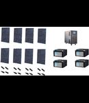 Pachet sistem fotovoltaic cu autonomie 8x240W 4800Wh