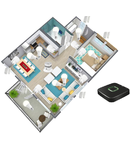 Pachet smart home pentru apartament 2 camere- securitate, lumini, prize