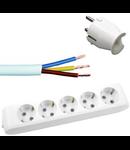 Pachet prelungitor +10  cablu cupru Romanesc 3x2.5 + stecher Gewiss 16A