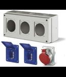 Organizator IP44 2x16A schuko + 1 x16A 380V 5P