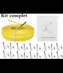 Pachet cablu incalzire in pardoseala + termostat 1.7 metri patrati