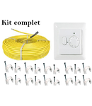 Pachet cablu incalzire in pardoseala + termostat 17 metri patrati