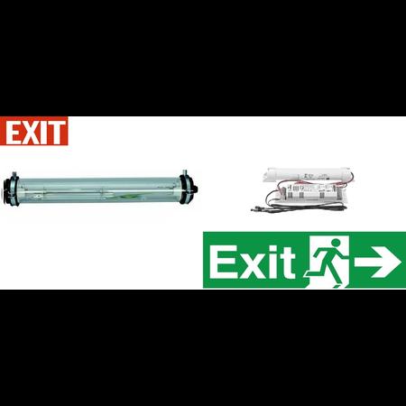 Lampa antiex 2x36W cu kit emergenta 1 ora