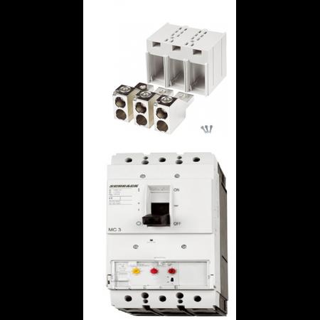 Pachet usol 3P 250A cu borne tunel pentru cabluri 1x16..185mm