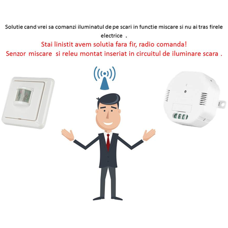 Solutie control iluminat interior din senzor de miscare wireless