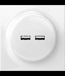 Prizadubla USB cu functie deincarcare rapida - WALLI
