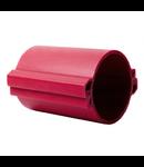 Tub rigid format din doua parti  pentru protectie cabluri subterane D 110mm Rosu