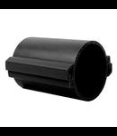Tub rigid format din doua parti  pentru protectie cabluri subterane D 110mm Negru