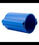 Tub rigid format din doua parti  pentru protectie cabluri subterane D 160mm Albastru