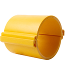 Tub rigid format din doua parti  pentru protectie cabluri subterane D 160mm Galben