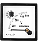 Voltmetru 72*72mm, 500V, AC+ comutator voltmetric