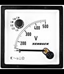 Voltmetru 96*96mm, 500V, AC+ comutator voltmetric