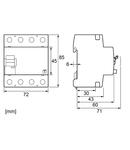 Intreruptor diferential 40A,4p,30mA,Tip EV(pt. vehicule el.)