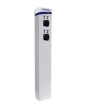 i-CHARGE PUBLIC 200, 2x T2 11-22kW, INOX, MCB RCD