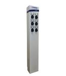 i-CHARGE PUBLIC 6xSchuko 3,7kW, inox, MCB, RCD