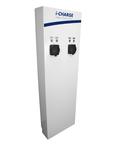 i-CHARGE PUBLIC lat, 2x Tip2 22kW, inox, MCB, RCD