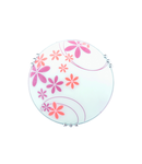 PLAFONIERA FLOWER 1XE27 ALB/PORTOCALIU D300mm