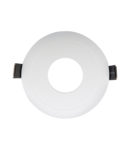 PLASTIC DOWNLIGHT ROUND IN MIDDLE D90mm WHITE