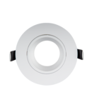 PLASTIC DOWNLIGHT ROUND METAL RING D90mm WHITE