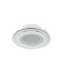LED PANEL DE STICLA ROTUND 6W 2700K-3000K ALB Ф100MM