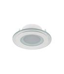 LED PANEL DE STICLA ROTUND 6W 2700K-3000K ALB D100MM +KIT EMERGENTA