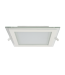 LED PANEL DE STICLA PATRAT 18W 2700K-3000K ALB 200MM/200MM