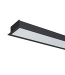 PROFIL LED INCASTRAT S48 24W 4000K 1200MM NEGRU+KIT EMERGENTA