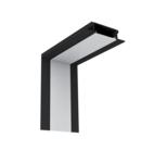 PROFIL COLT INTERIOR LED INCASTRAT NEGRU S77