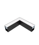 PROFIL COLT L-TIP LED APLICAT NEGRU S48