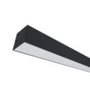 PROFIL LED APARENT S77 24W 4000K 600MM NEGRU+KIT EMERGENTA