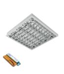 CORP IL. LENA – V CU LED (600MM) 4X9W 4000K INGROPAT 595X295mm CU KIT DE EMERGENTA
