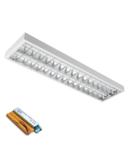 CORP IL. LENA – V CU LED (1200MM) 2X18W 6400K INGROPAT 1195X295mm CU KIT DE EMERGENTA