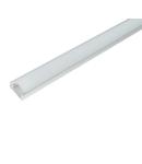 PROFIL DIN ALUMINIU CU CAPAC PVC ELM718/1-2000 2M