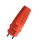 RUBBER SCHUKO PLUG 16A RED