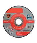 CUTTING DISC METAL A60T INOX 115x1.0x22.2mm