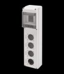 Organizator de santier Q-DIN 5 MODULE - 4 FLANSE-OUTLET STANDARD SOCKET 50x50 mm- IP65