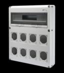 Organizator de santier Q-DIN 20 MODULE - 8 FLANGE IEC 16 / 32A IP44 / 67 - IP65