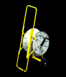 TUBOLAR METAL STAND GALBEN VOPSIT -Cu ROTATIVE DRUM SI DE CABLU 50M - Organizator de santier Q-DIN14 / 20