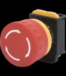 CIUPERCI-HEAD ENERGENCY BUTON - RUNDA -: 40mm -Cu HOLDING- neiluminate