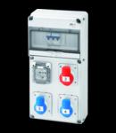 Organizator de santier Q-DIN 10 ASD - 3 IEC 309-1 SOCKET OUTLET IT / DE - IP44