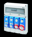 Organizator de santier Q-DIN 20 ASD - 4 IB VERTICALA SBF 4 FLANSE - IP65