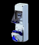 Combibloc ASD - SURFACE MONTAREA - 1 SOCKET OUTLET 2P + E 16A IP44