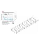 Jgheab metallic tip sârmă H50 - TIP SR 200X50